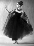 Presentation on February 27  1963 of Fashion by Jacques Heim  Paris : Black Tulle Evening Dress