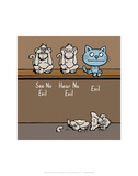 Evil - Antony Smith Cattitude Cartoon Print