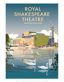 Royal Shakespeare Theatre - Dave Thompson Contemporary Travel Print