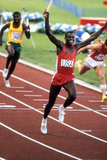 Olympic Games in Los Angeles  1984 : 4X100M : American Team Is Winner : Carl Lewis