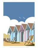 Beach Huts - Dave Thompson Contemporary Travel Print