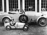 Jean Bugatti and Roland Bugatti Sons of Ettore Bugatti in Cars Made by their Father  C 1928