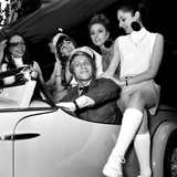 "French Singer Jacques Dutronc for Launching of ""Siata Spring"" Car  25 May 1967"