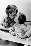 French Actress Micheline Presle with Daughter Tonie Marshall (7) August 9  1958