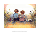 Reading - Alfie Illustrated Print Reproduction d'art par Shirley Hughes