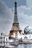 The Eiffel Tower and 'Globe Celeste' at the 1900 World Exposition