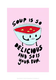 Soup Is Delicious - Tom Cronin Doodles Cartoon Print