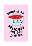 Soup Is Delicious - Tom Cronin Doodles Cartoon Print