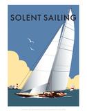 Solent Sailing - Dave Thompson Contemporary Travel Print