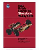 RAC British Grand Prix - Silverstone Vintage Print