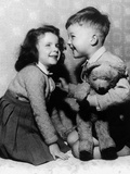Children with Teddy Bear C 1950