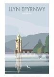 Lake Vynwry (Welsh Language) - Dave Thompson Contemporary Travel Print