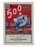 500 Miles Race Brooklands - Silverstone Vintage Print