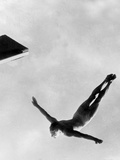 Olympic Games in Helsinki : Diving During Swimming Events July 29  1952