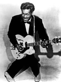 Charles Edward Anderson Berry Aka Chuck Berry (B1926) Rock and Roll Guitarist Here C 1955