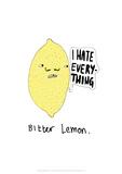 Bitter Lemon - Tom Cronin Doodles Cartoon Print