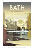 Bath - Dave Thompson Contemporary Travel Print Giclée par Dave Thompson