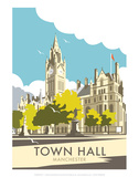 Manchester Town Hall - Dave Thompson Contemporary Travel Print