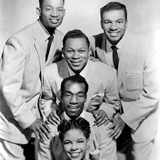 The Platters : Bottom-Top : Zola Taylor  Herb Reed  Tony Williams C 1955