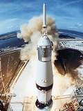 Lift Off of Apollo 11 Mission  with Neil Armstrong  Michael Collins  Edwin Buzz Aldrin  July 1969