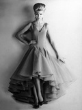 Presentation in February 1961 of Fashion by Nina Ricci for Spring-Summer 1961 : Evening Dress
