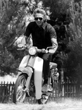 American Actor Steve Mcqueen on a Moto to Prepapre His Film Le Mans  1969