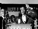 Malcolm X (1925-1965) During a Speech During a Rally of Nation of Islam at Uline Arena  Washington