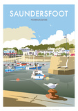Saundersfoot - Dave Thompson Contemporary Travel Print