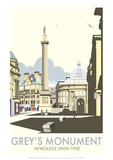 Greys Monument  Newcastle - Dave Thompson Contemporary Travel Print
