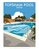 Topsham Pool  Devon - Dave Thompson Contemporary Travel Print