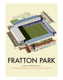 Fratton Park - Dave Thompson Contemporary Travel Print