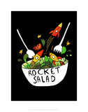 Rocket Salad - Katie Abey Cartoon Print