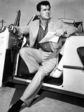 Rock Hudson in a Convertible  1959