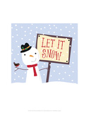Let It Snow - Wink Designs Contemporary Print