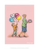 Birthday Balloons - Alfie Illustrated Print