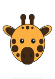 Giraffe - Animaru Cartoon Animal Print