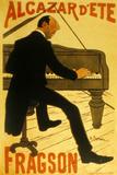 Le Chanteur De Music Hall H Fragson Au Cabaret Alcazar D Ete
