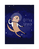 Otter Space - Katie Abey Cartoon Print