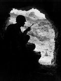 Pacific Front During Okinawa Battle  April-June 1945 : Us Marines Sights on a Japanese Sniper