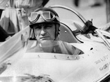 Racing Driver Fangio Here at the Wheel During Race in Monza June 28  1958