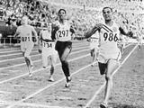 Olympic Games in Helsinki : Malvin Whitfield (USA) Winning the 800 Meters Race in 1 Minute 49 Sec