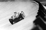 On Monza Circuit  Qualifying Round for Cars for the Grand Prix Which Take Place on Sept 2  1955