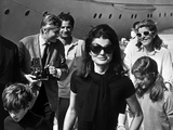 Jackie Bouvier Kennedy  Future Mrs Onassis  with John F Kennedy Jr and Caroline Kennedy