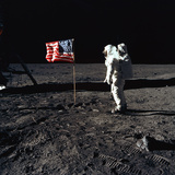 "American Astronaut Edwin ""Buzz"" Aldrin Walking on the Moon on July 20, 1969 Reproduction photo"