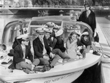 Josephine Baker (1906-1975) and Her Children on a Boat in Amsterdam on October 5  1964