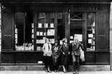 Ernest Hemingway and Sylvia Beach Infront of the 'Shakespeare and Company' Bookshop  Paris  1928