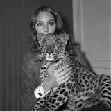 Model Antonia with Her Panther Tatch  16 November 1967