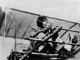 Helene Dutrieu in Her Plane  C1911