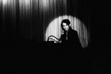 French Singer Barbara Onstage in a Cabaret  Paris 1971