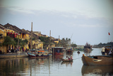 Boats at the Thu Bon River  Hoi An  Vietnam  Indochina  Southeast Asia  Asia